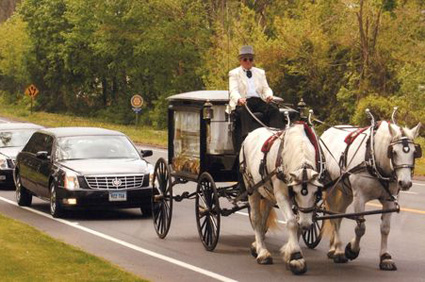 Unique Transportation: Horse Drawn Hearse